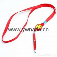 badge reel lanyard pen