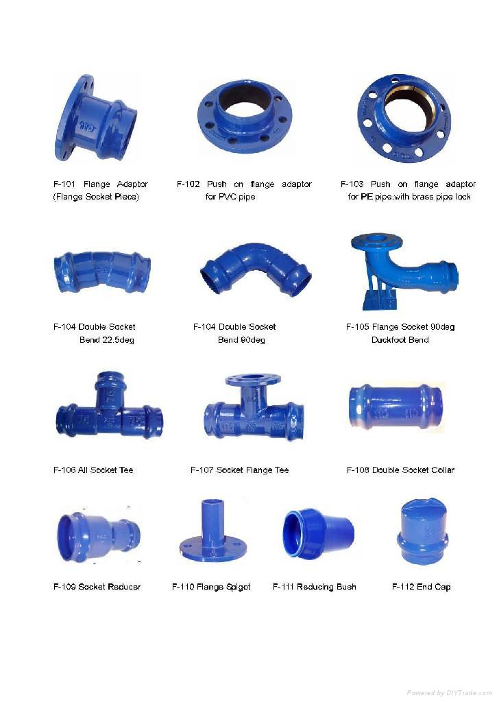 Ductile Iron Fittings For Pvc Pipe As Request China
