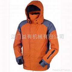 雨衣、帳篷、防水服)熱風壓膠加工