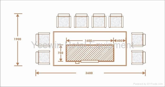 Teppanyaki Tables - YWRC-8 - Yeewin (China Manufacturer