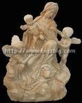 Carved granite statue