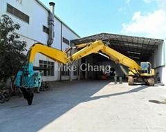 Excavator sheet piling h