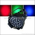 LED PAR64 Parcans RGB with super brightness 3W Edison lamp, stage light