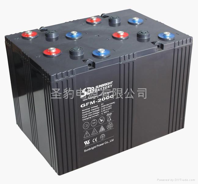 2V2000Ah 免維護太陽能蓄電池 1