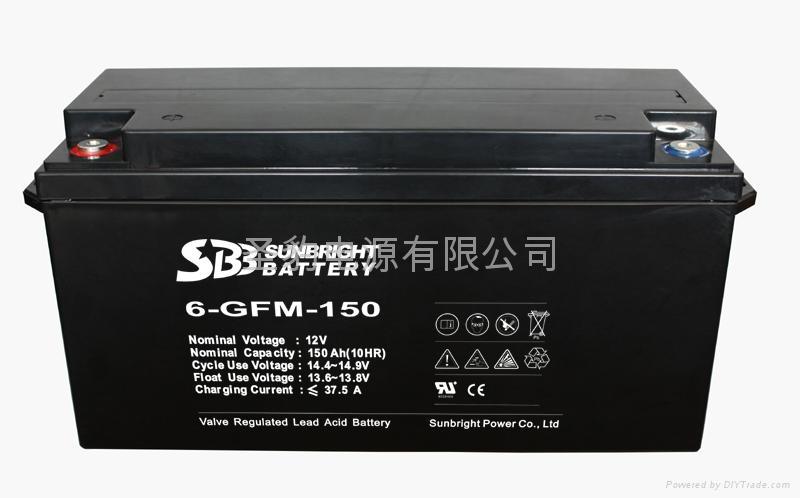 圣豹太阳能系统胶体蓄电池12V150Ah 1