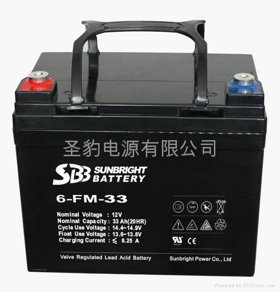聖豹 老人代步車電動輪椅鉛酸蓄電池12V33Ah 2