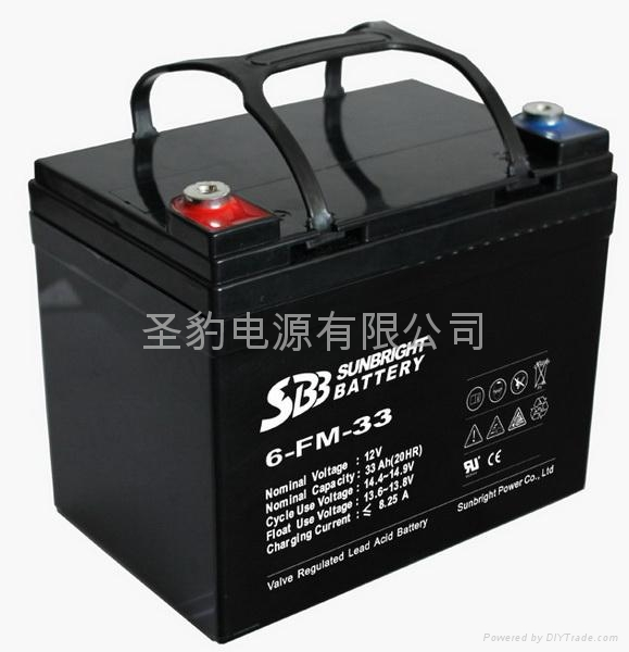 聖豹 老人代步車電動輪椅鉛酸蓄電池12V33Ah 1