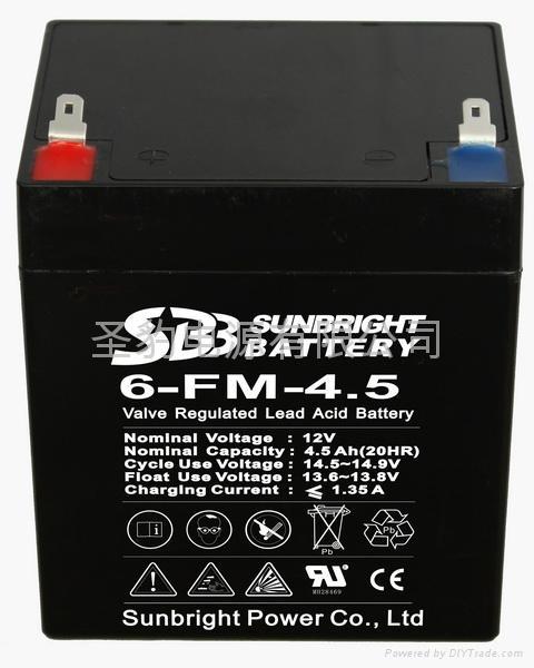 聖豹電動滑板車鉛酸蓄電池12V4.5 1