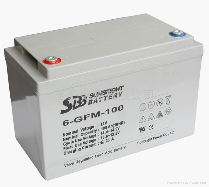 太陽能風能專用儲能聖豹電池 1