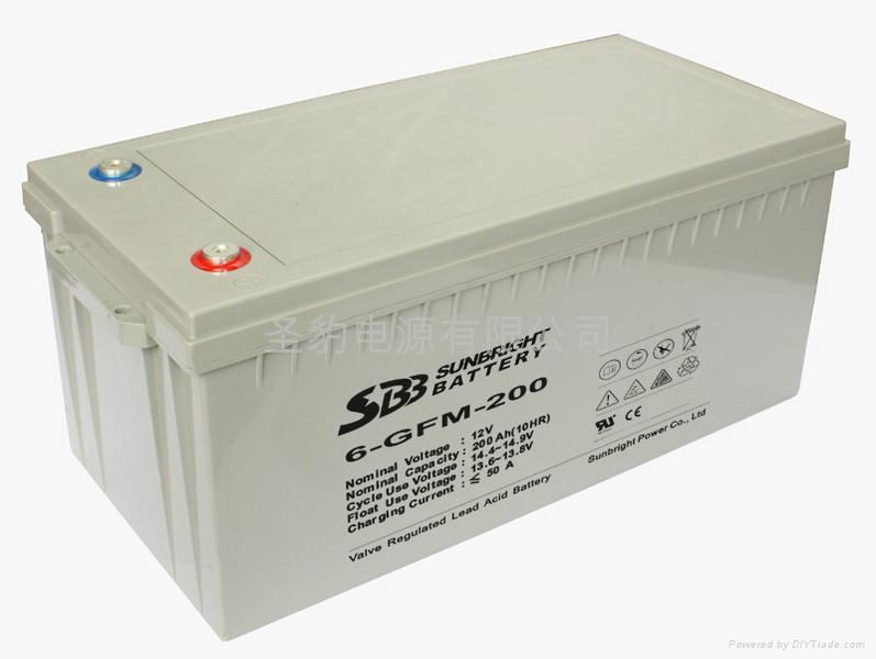 太陽能風能專用儲能聖豹電池 2