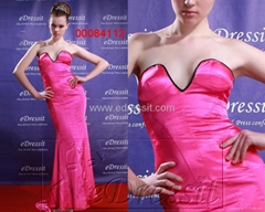 edressit Hot Pink Prom Gown Evening Dress