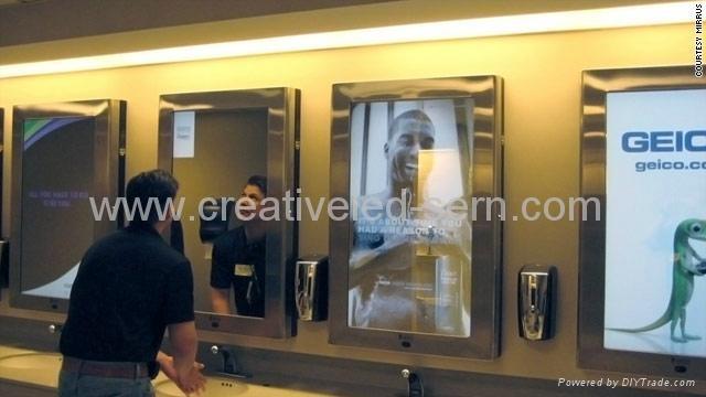 洗手间专用媒体广告机 3