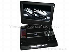 "TF-DVD968T 9"" portable dvd player with clear wide screen with GAME/DIVX/USB/DVD"