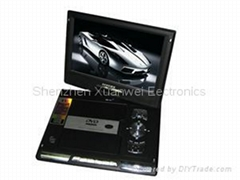"TF-DVD1089T 11"" portable dvd with 16:9 screen with GAME/DIVX/USB/DVD"