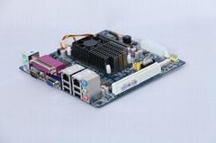 枭杰科技嵌入式ITX-D525-2VGA无风扇工控主板