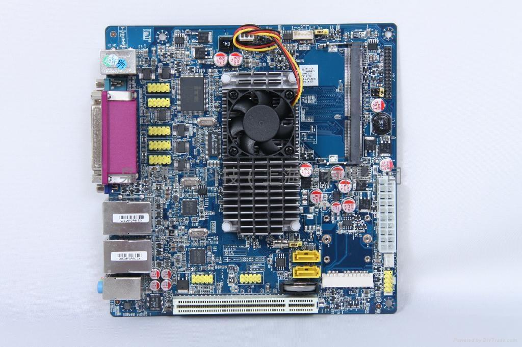 梟杰科技嵌入式ITX-D525-2VGA無風扇工控主板 2