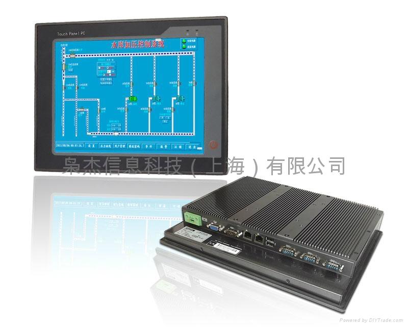 梟杰科技12寸無風扇PPC-P121-N26E超薄工業平板電腦 1