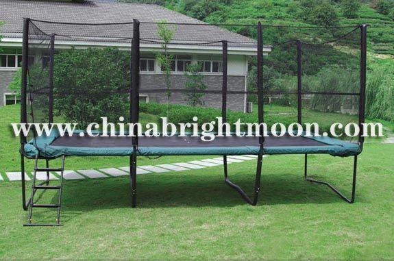 Rectangle Trampoline With Safety Net 10ft X 17ft Bright
