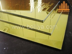 Aluminum Plastic Composite Panel (PF832 Golden Mirror)