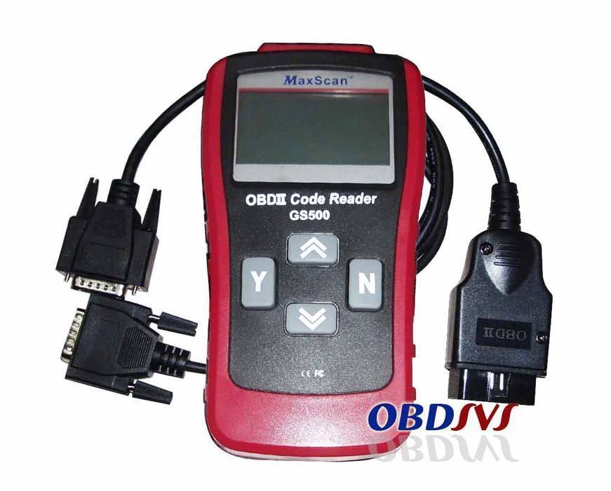 GS500 Scanner Diagnostic Trouble Code Reader OBD II OBD