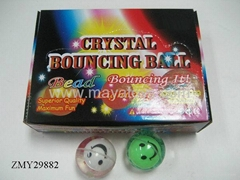 Flashing bouning ball