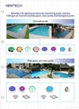 Wifi remote control IP68 waterproof  LED underwater swimming Pool light HT026C 4