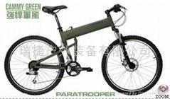 悍馬自行車 -傘兵戰略登山車-軍綠/沙漠