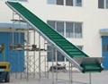 家电楼层输送用爬坡皮带输送机
