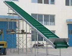 家電樓層輸送用爬坡皮帶輸送機