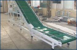 家电楼层输送用爬坡皮带输送机 2