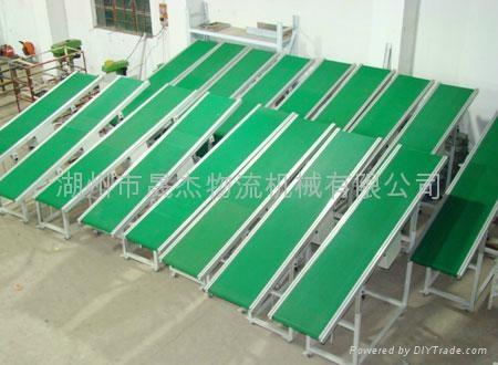 家电楼层输送用爬坡皮带输送机 4