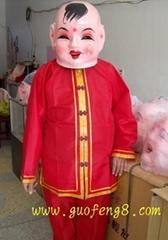 大頭娃娃小男孩及服裝