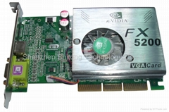 NVIDIA Series display cardboard/VGA Card/ graphics card (FX5200 126MB DDR)