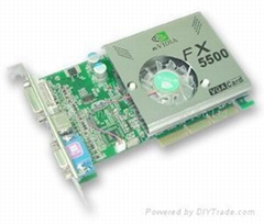 NVIDIA Series Video card/ Graphics card/ vga card (FX5500 256MB DDR)