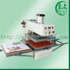 氣動雙工位熱轉移印機氣動雙工位燙畫機氣動服裝燙鑽機