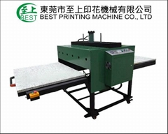 operated double location heat press machine