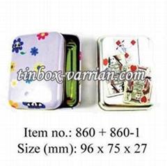 Playing Cards Tin Box / Poker Gift Box