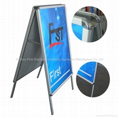 A stand/outdoor poster stand/A poster stand/