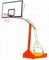 海南凹箱式防液壓籃球架
