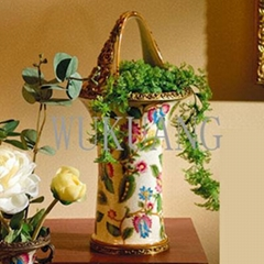 Porcelain with brass Home Decorations/collections - Vase/candy dish/bowl