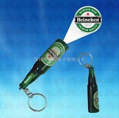 酒瓶投影钥匙扣
