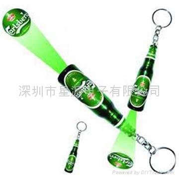 酒瓶投影钥匙扣 2