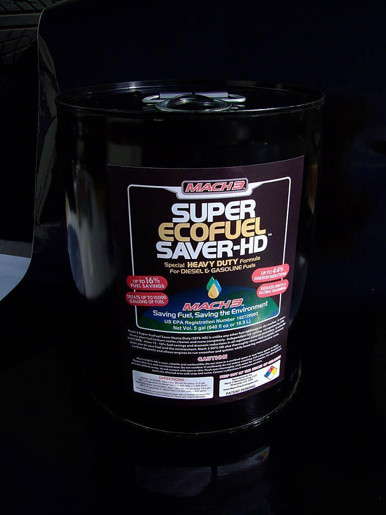 Mach3 Super Eco Fuel Saver HD 5 gallon can 1