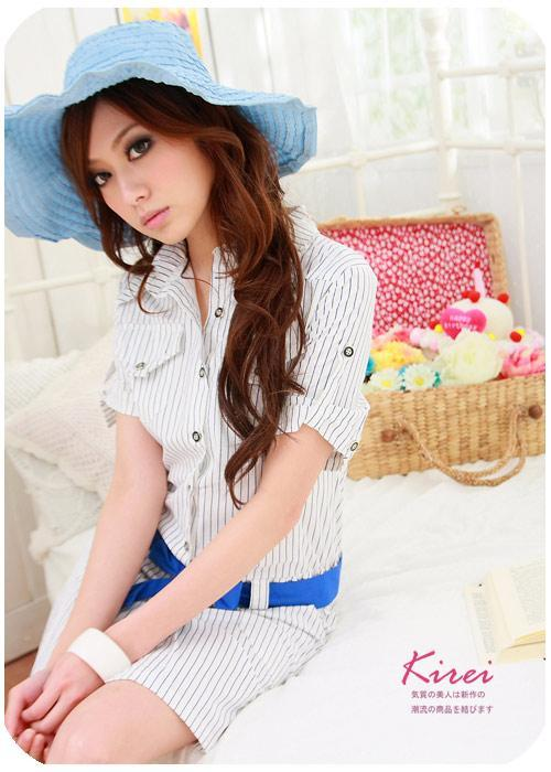 Latest Korean Style Stripe Dress 1