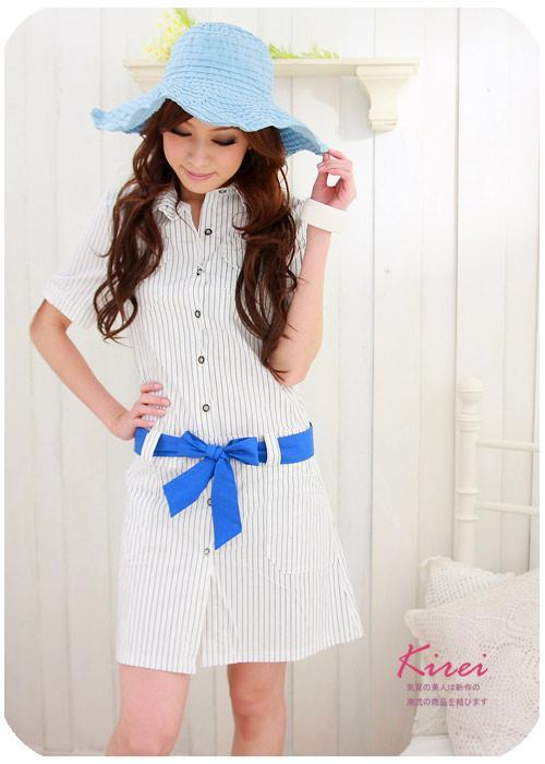Latest Korean Style Stripe Dress 3