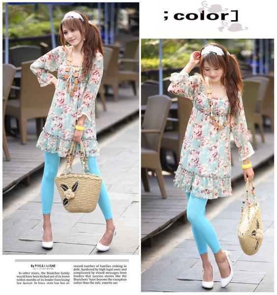 Korean Style Fashion Colorful Dazzle Chiffon Dress 3