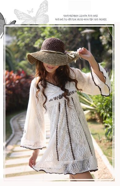 Korean Style Hollow-out Knitting Lace Dress 2
