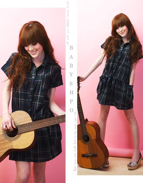 Korean Style Fashion Short Sleeve Checked Dress 2