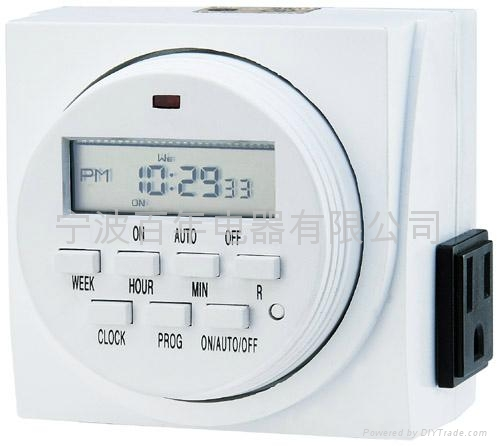 Digital Electric Light On Off Timer Dual Outlet Switch