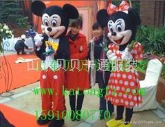 济南卡通人偶服装道具米老鼠